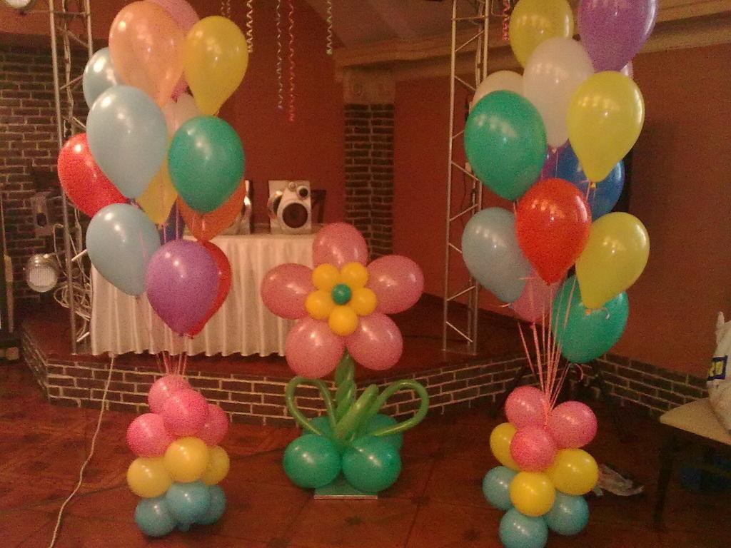 Украшение воздушными шарами день рождения своими руками фото 71